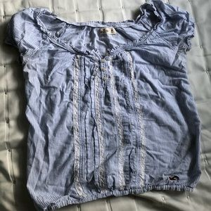 Hollister Striped Shirt with White Trim